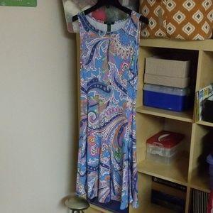 Lauren / Ralph Lauren ladies paisley dress